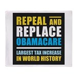 Repeal And Replace Obamacare Throw Blanket