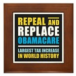 Repeal And Replace Obamacare Framed Tile