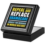 Repeal And Replace Obamacare Keepsake Box