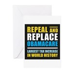 Repeal And Replace Obamacare Greeting Cards (Pk of