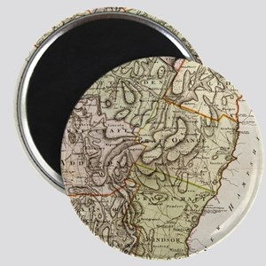 Vintage Map of Vermont (1797) Magnets
