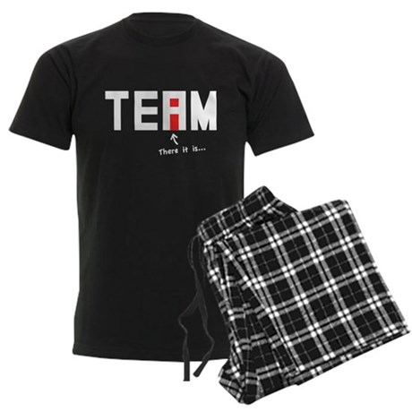 There's an I in TEAM Men's Dark Pajamas