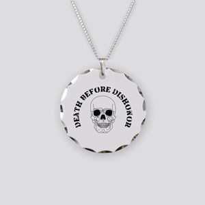 Skull - Death Before Dishonor 007 Necklace Cir