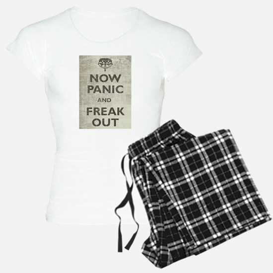 Vintage Now Panic And Freak Out Pajamas