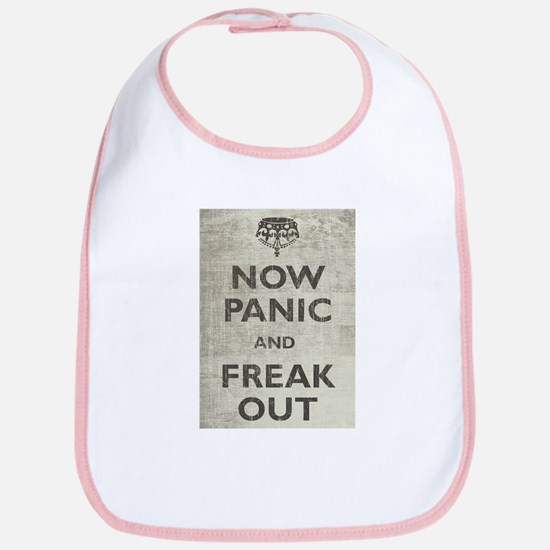 Vintage Now Panic And Freak Out Bib