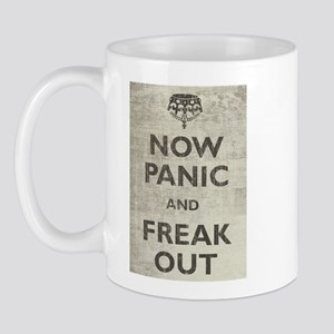 Vintage Now Panic And Freak Out Mug