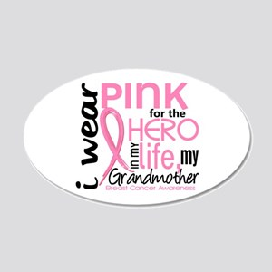 Hero In Life 2 Breast Cancer 20x12 Oval Wall Decal