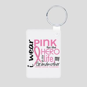 Hero In Life 2 Breast Cancer Aluminum Photo Keycha