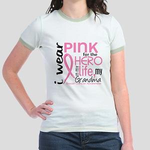 Hero In Life 2 Breast Cancer Jr. Ringer T-Shirt