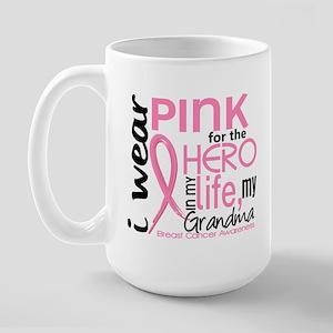Hero In Life 2 Breast Cancer Large Mug