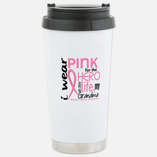 Hero In Life 2 Breast Cancer Stainless Steel Trave