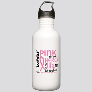 Hero In Life 2 Breast Cancer Stainless Water Bottl