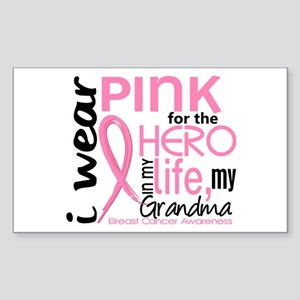 Hero In Life 2 Breast Cancer Sticker (Rectangle)