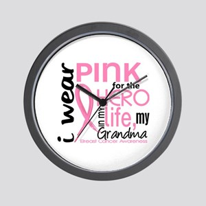 Hero In Life 2 Breast Cancer Wall Clock