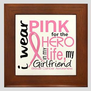 Hero In Life 2 Breast Cancer Framed Tile
