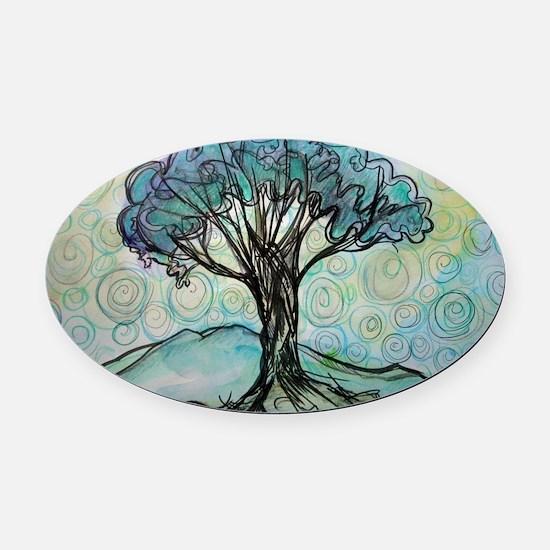 tree ! tree of life, art! Oval Car Magnet