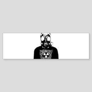 GZW Metal Logo Gas Mask Sticker (Bumper)