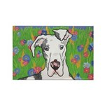 Great Danes Rectangle Magnet (100 pack)