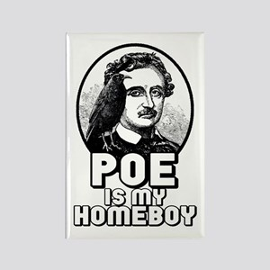 Poe is my Homeboy Rectangle Magnet