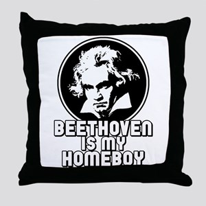 Beethoven is my Homeboy Throw Pillow