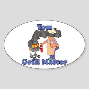 Grill Master Tom Sticker (Oval)