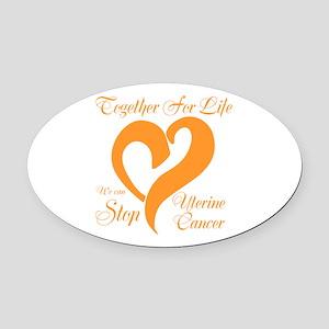 Stop Uterine Cancer Oval Car Magnet