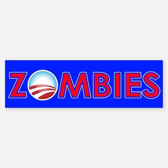 Obama Zombies Sticker (Bumper)