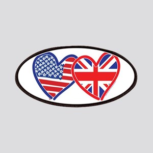 American Flag/Union Jack Hear Patches