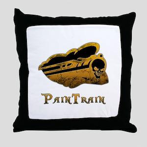 PainTrain Throw Pillow