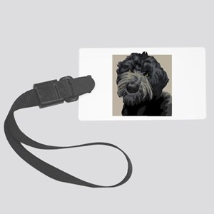 Black Russian Terrier Large Luggage Tag