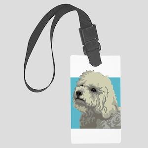 Bolognese dog Large Luggage Tag