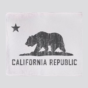 Vintage California Republic Throw Blanket