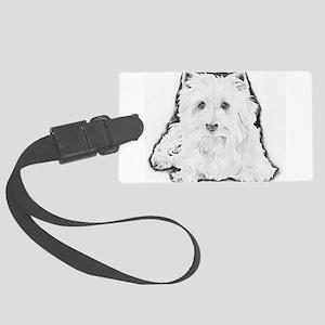 Highland White Terrier Large Luggage Tag