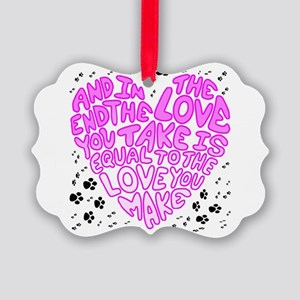 Love You Make Picture Ornament