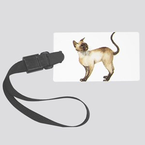 Siamese cat Large Luggage Tag