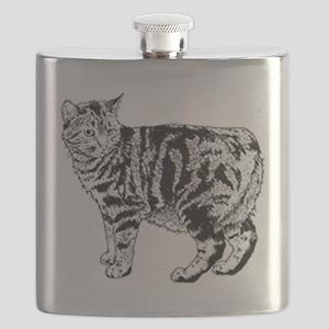 Manx Cat Flask