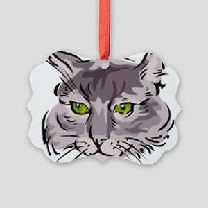 Cat Face Picture Ornament