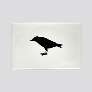 crow silhouette Rectangle Magnet