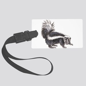 Striped Skunk Large Luggage Tag