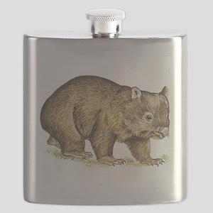 Wombat drawing Flask