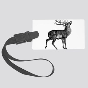 Red Deer Stag Large Luggage Tag