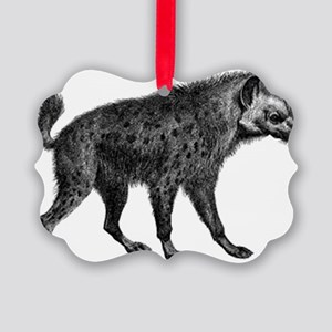 Spotted Hyena Picture Ornament