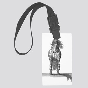 Charging Horse Large Luggage Tag