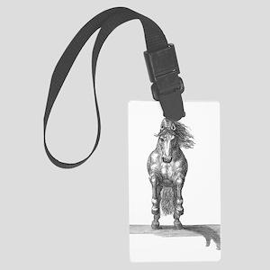 Charging Horse Large Luggage Tag