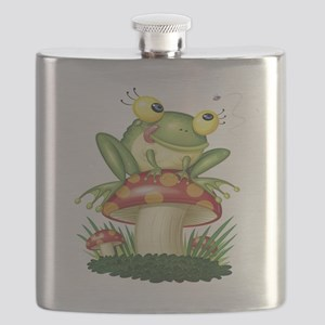 Frog Toad stool Flask