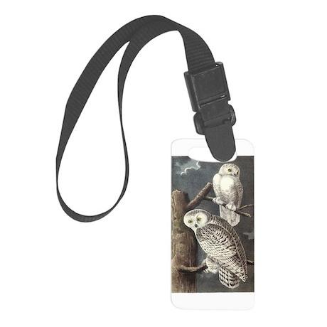 Snowy Owls Small Luggage Tag
