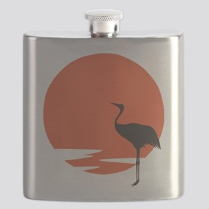 Crane bird Flask