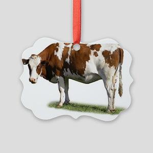 Cow Photo Picture Ornament