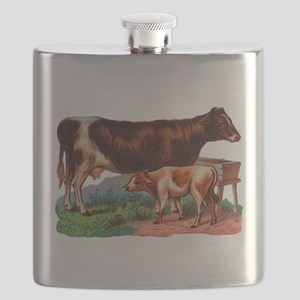 Cow and calf Flask
