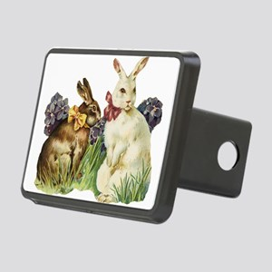 easter rabbits Rectangular Hitch Cover